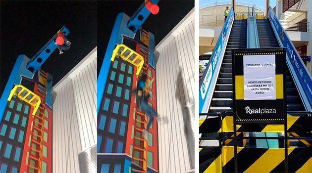 CAÍDA BRUTAL | Así cayó la adolescente desde 9 metros de altura en conocido centro de diversiones (VÍDEO)