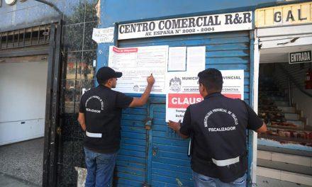 TRUJILLO: CONTRA LA INFORMALIDAD | Clausuran locales comeriales en avenida España