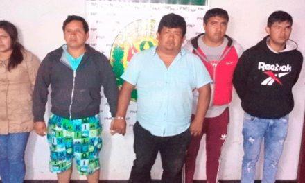 NO PUDIERON COBRAR CUPO | Policía detiene a cinco sujetos en plena extorsión