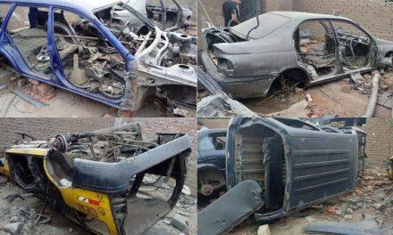 PURA 'CHATARRA' | Policía halla siete vehículos desmantelados en cochera clandestina