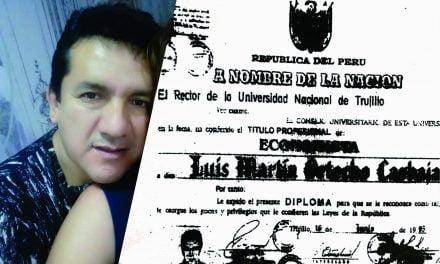 EL GERENTE BAMBA | Funcionario de Víctor Larco ocupaba cargo con título universitario falso