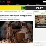 EN LOS OJOS DEL MUNDO   Así informa la prensa internacional sobre el terremoto en Loreto (FOTOS)