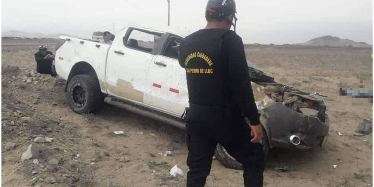 FATAL ACCIDENTE | Alcalde de Chepén muere tras despiste de camioneta