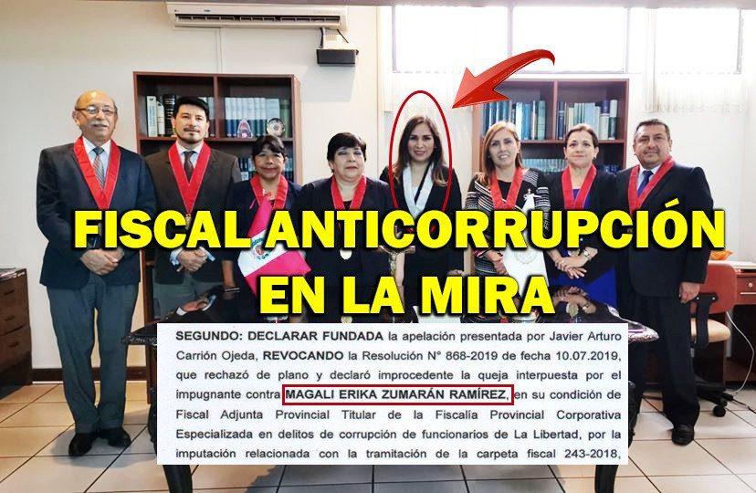 QUEJAN A FISCAL ANTICORRUPCIÓN | La acusan ante OCI de presunto favorecimiento a denunciados por peculado doloso
