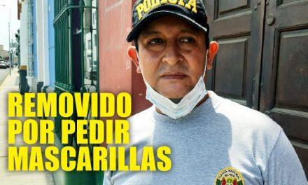 ¡EL COLMO! REMUEVEN A POLICÍA POR PEDIR MASCARILLAS Y GUANTES DE PROTECCIÓN | Técnico PNP fue puesto como vigilante en puerta de la comisaría de Ayacucho