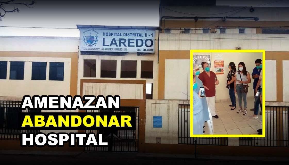 LAREDO: TRABAJADORES SUSPENDEN LABORES EN HOSPITAL   Personal de salud amenaza con abandonar servicios por caos existente (VÍDEO)