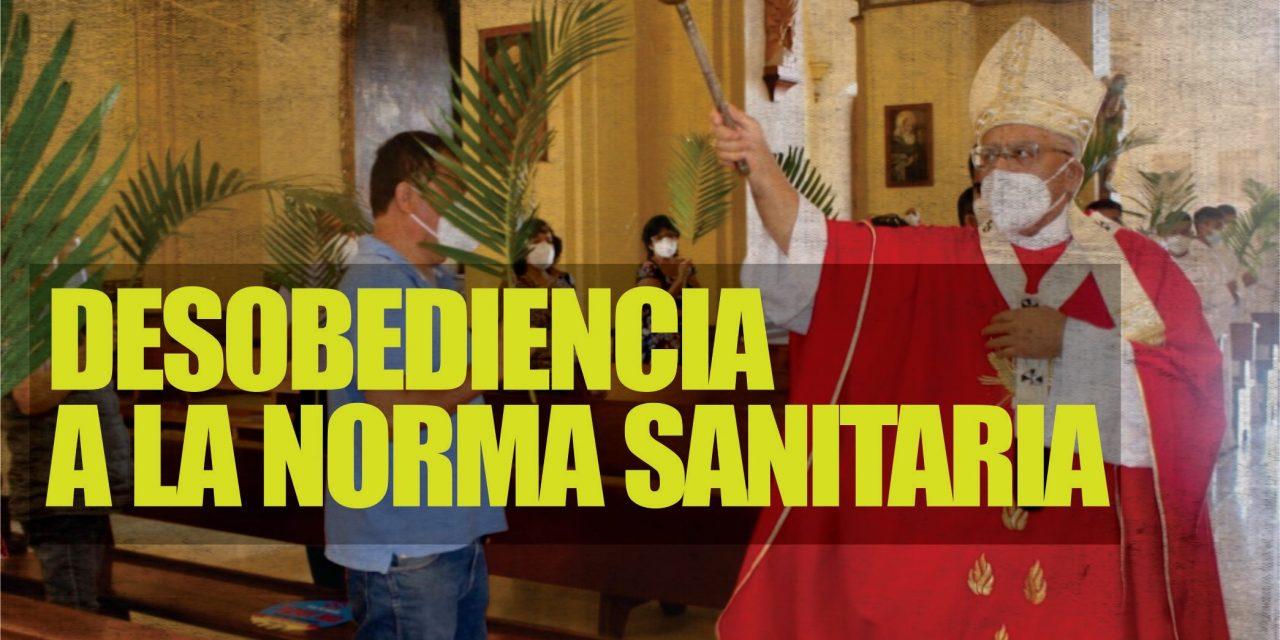 LA IGLESIA NO RESPETA RESTRICCIÓN SANITARIA   Catedral de Trujillo oficia misa con público por Domingo de Ramos, pese a prohibición de la PCM