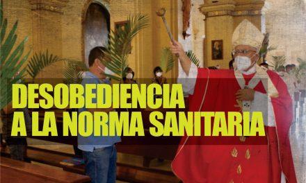 LA IGLESIA NO RESPETA RESTRICCIÓN SANITARIA | Catedral de Trujillo oficia misa con público por Domingo de Ramos, pese a prohibición de la PCM