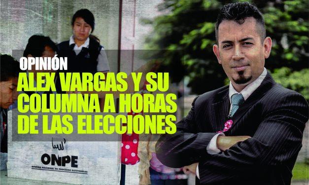 El periodista Alexander Vargas se pronuncia sobre las elecciones del 11 de abril