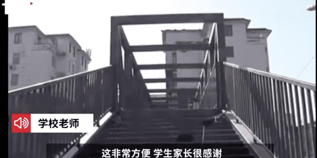 China: madre construyó puente para que su hijo vaya a salvo a la escuela