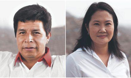 CPI: solo dos puntos separan a Pedro Castillo con 34.2% de Keiko Fujimori con 32%