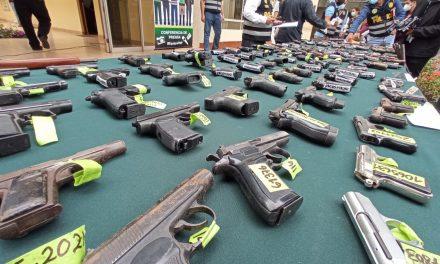 La Libertad: decomisan más de 200 armas de fuego en Trujillo, Pacasmayo y Chepén