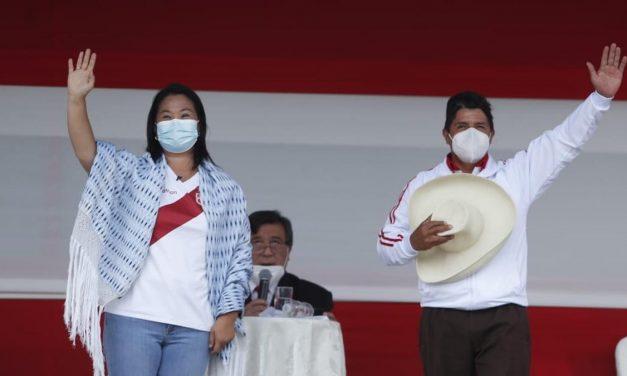 Keiko Fujimori y Pedro Castillo acuerdan participar en dos debates del JNE