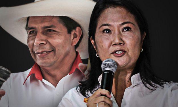 Castillo obtuvo 50,2% y Keiko, 49,8%, según conteo rápido al 100% de Ipsos Perú/América TV