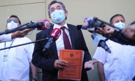 Fiscalía solicita protección policial a vivienda de Domingo Pérez, ante convocatoria de plantón