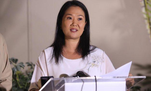 """Keiko Fujimori: """"desde ahora puedo decir que voy a respetar los resultados, como debe ser"""""""