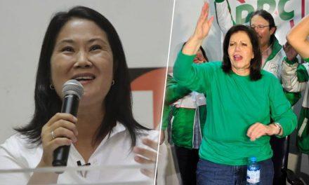 Keiko Fujimori presenta a Lourdes Flores como parte de su equipo