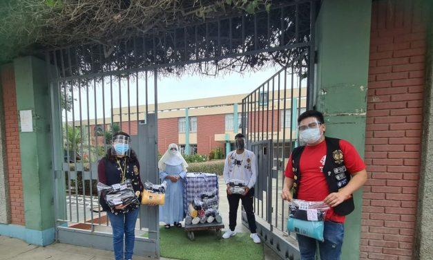 Trujillo: jóvenes voluntarios entregan donaciones a abuelitos en asilo Hogar San José